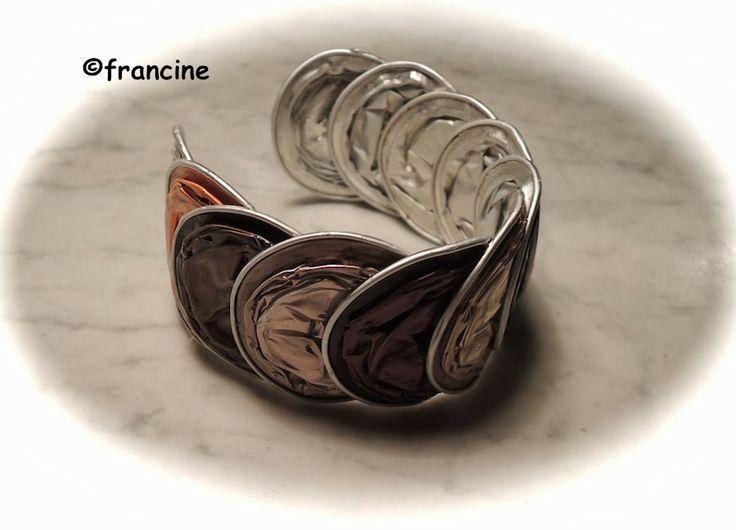 "FRANCINE BRICOLE : Tours de poignet multicolores en ""capsules Nespres..."