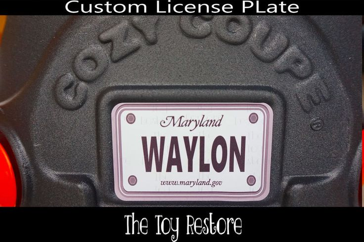 Replacement Decals fits Little Tikes Cozy Coupe #Maryland Custom Number Plate #TheToyRestore #TheToyRestore #LittleTikes #CozyCoupe #LicensePlate #NumberPlate #Vanity #CozyCoupeRedo #CozyCoupeMod #CozyCoupeMakeover