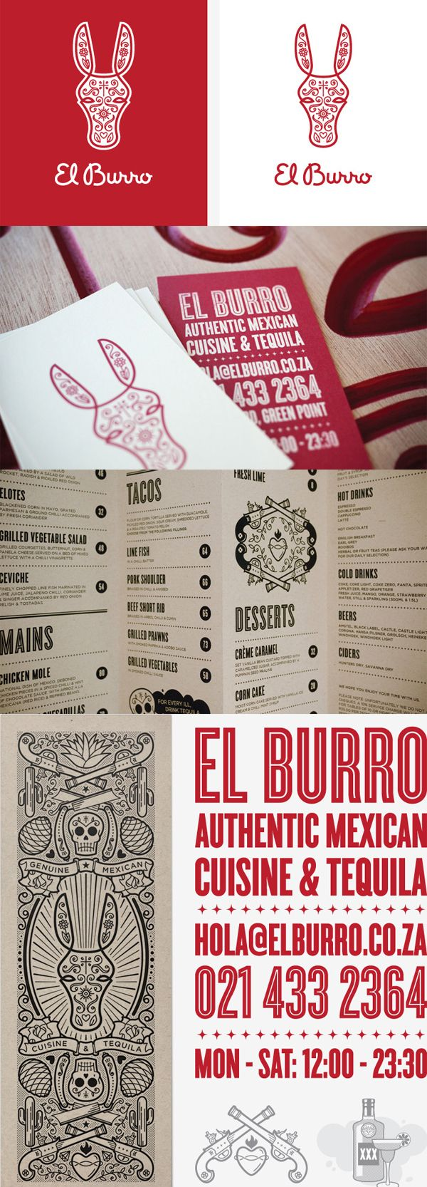El Burro | Designer: Monday Design - http://www.mondaydesign.co.za #branding #design #identity