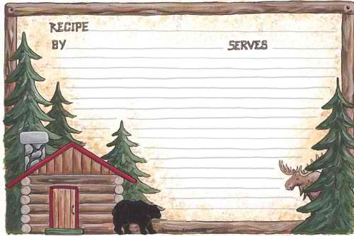 Lodge Recipe Cards. 4x6