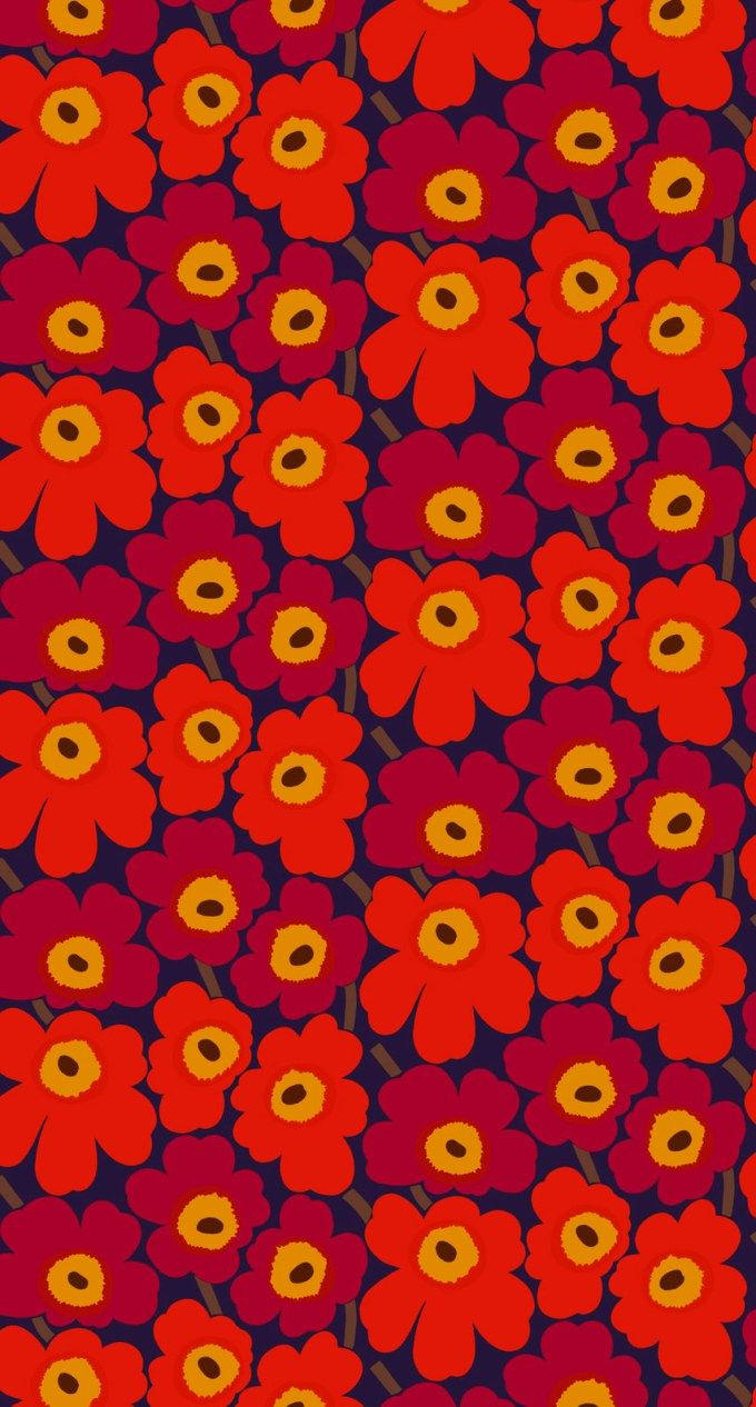 マリメッコ/ウニッコ09 iPhone壁紙 Wallpaper Backgrounds iPhone6/6S and Plus  Marimekko Unikko iPhone Wallpaper