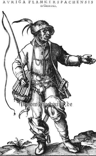 Hans Weigel's Book of Costume 1577: Auriga Flammerspachensis in Germania