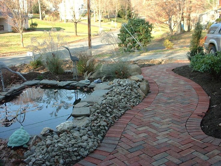 34 best images about pavers on pinterest walkways for Brick fish pond