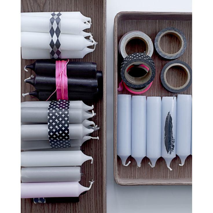 Black&White tejp, 4-pack – Bloomingville – Köp online på Rum21.se