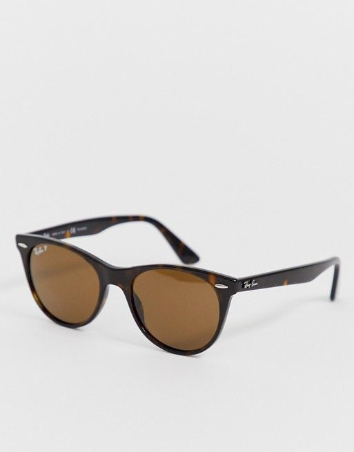 75e961a9972 Ray-Ban 0RB2185 round sunglasses with polarized lens in tort in 2019 ...