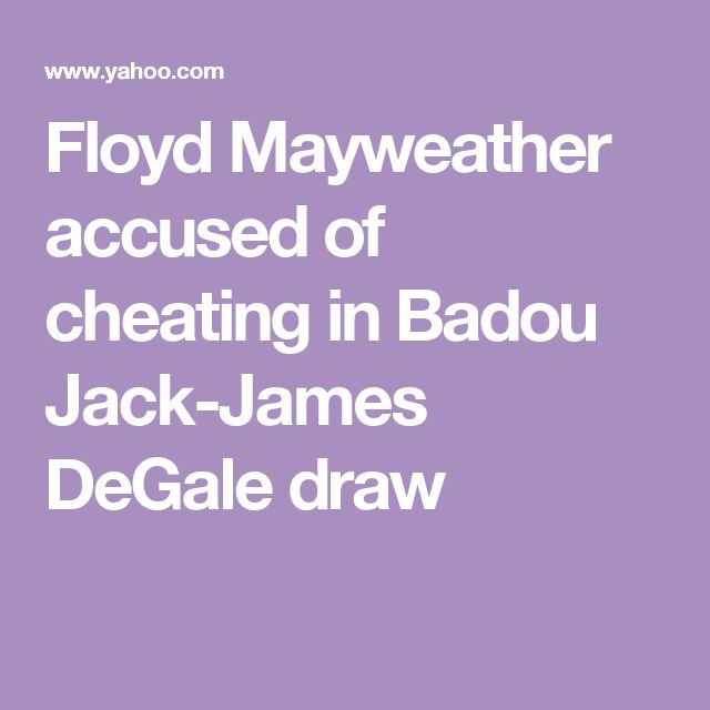Floyd Mayweather accused of cheating in Badou Jack-James DeGale draw