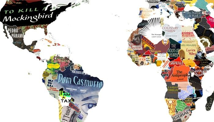 Este mapa incrível, mostra os clássicos da literatura mundial!!!  :)