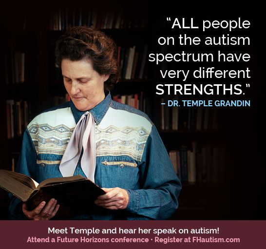 temple grandin autism spectrum birthday never late