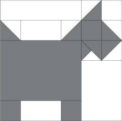Scottie Dog Quilt Block