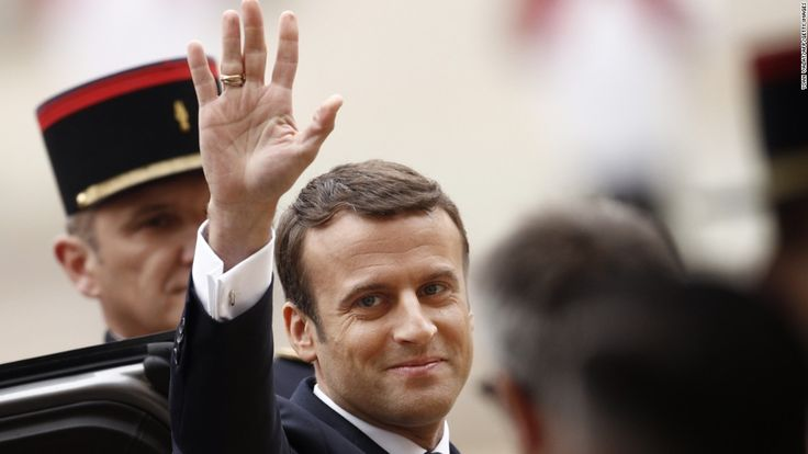 Emmanuel Macron was sworn in as French president on Sunday and gave a moving first speech to begin healing his fractured country.