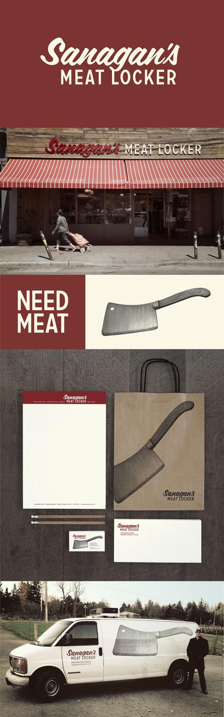 Sanagan's Meat Locker has earned its reputation as one of the best organic butchers in Toronto. Located in the heart of Kensington Market, the shop has been growing rapidly and has doubled it's size in less than 4 years. As senior designer at Punch & Judy we created an identity, retail experience and website to establish Sanagan's as an old-world butcher shop to play off the surrounding historical and traditional atmosphere of Kensington Market. haveyoumetjanet.ca