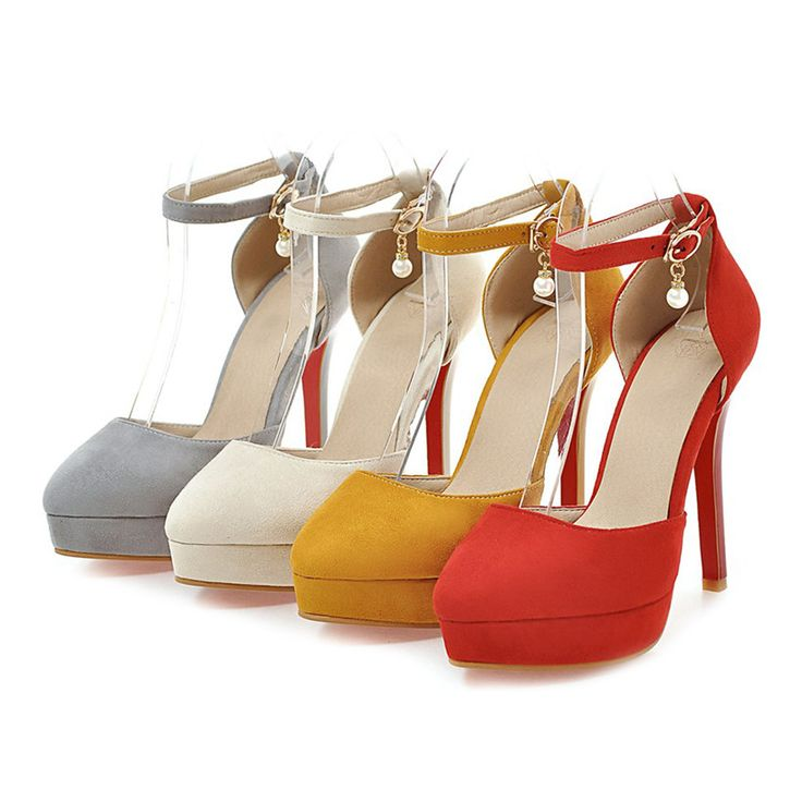 ==> [Free Shipping] Buy Best Plus Big Size 12cm Summer High Heels Platform Women Sandals Flock Stiletto Pointed Toe Office Party Wedding Velvet Ladies Shoes Online with LOWEST Price | 32803232469