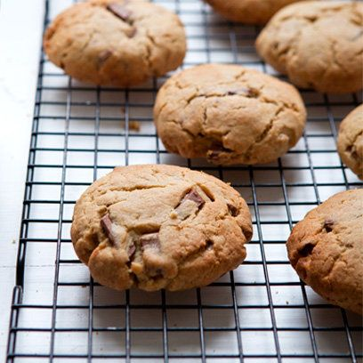 Peanut butter and chocolate cookies recipe. For the full recipe, click the picture or visit RedOnline.co.uk