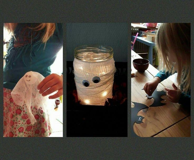 In deze blog vind je de uitleg van een paar simpele maar leuke decoraties, die je samen met kinderen kunt maken.         1. Spookjes. Halloween zonder spookjes? Dat kan