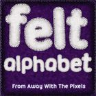 Here is a collection of felt effect alphabet and number clipart images. The felt effect letters and numbers have stitching around the edge and look...