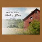 Red Barn Wedding Invitation