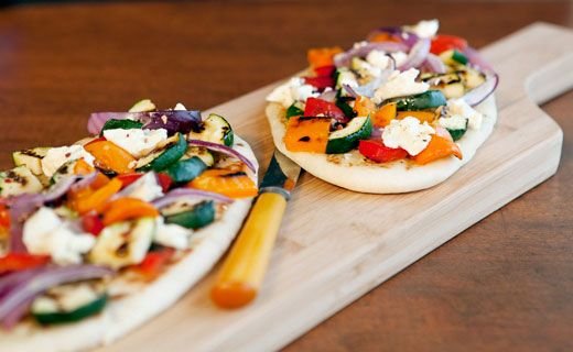 Grilled Summer Vegetable Naan Pizza #epicure
