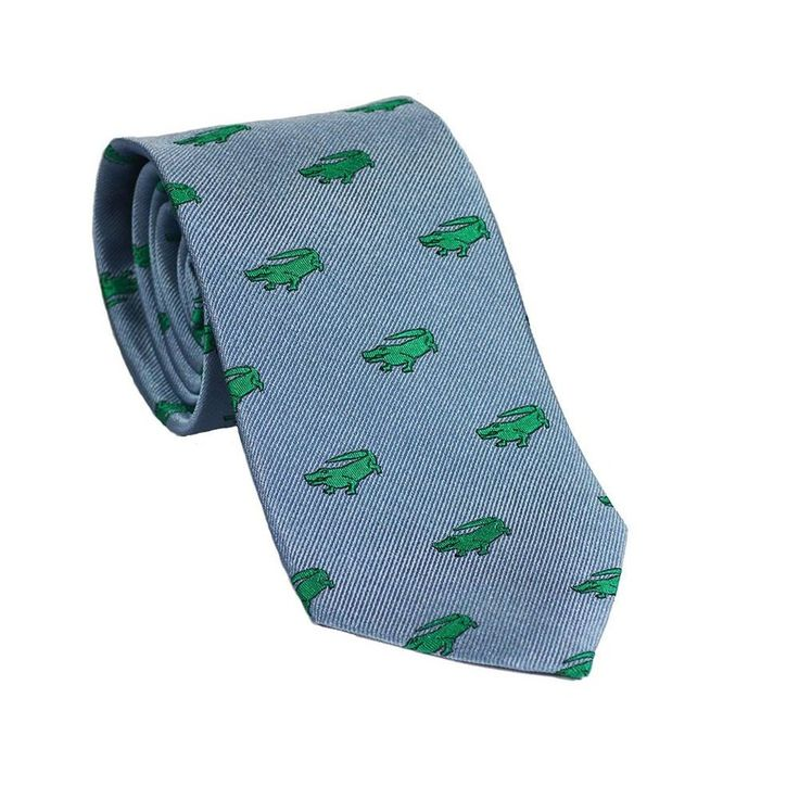 Alligator Necktie - Grey, Woven Silk