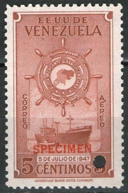 EE.UU DE VENEZUELA 0 5 DE JULIO DE 1947 - CORREO AEREO - FLOTA MERCANTE GRAN COLOMBIA