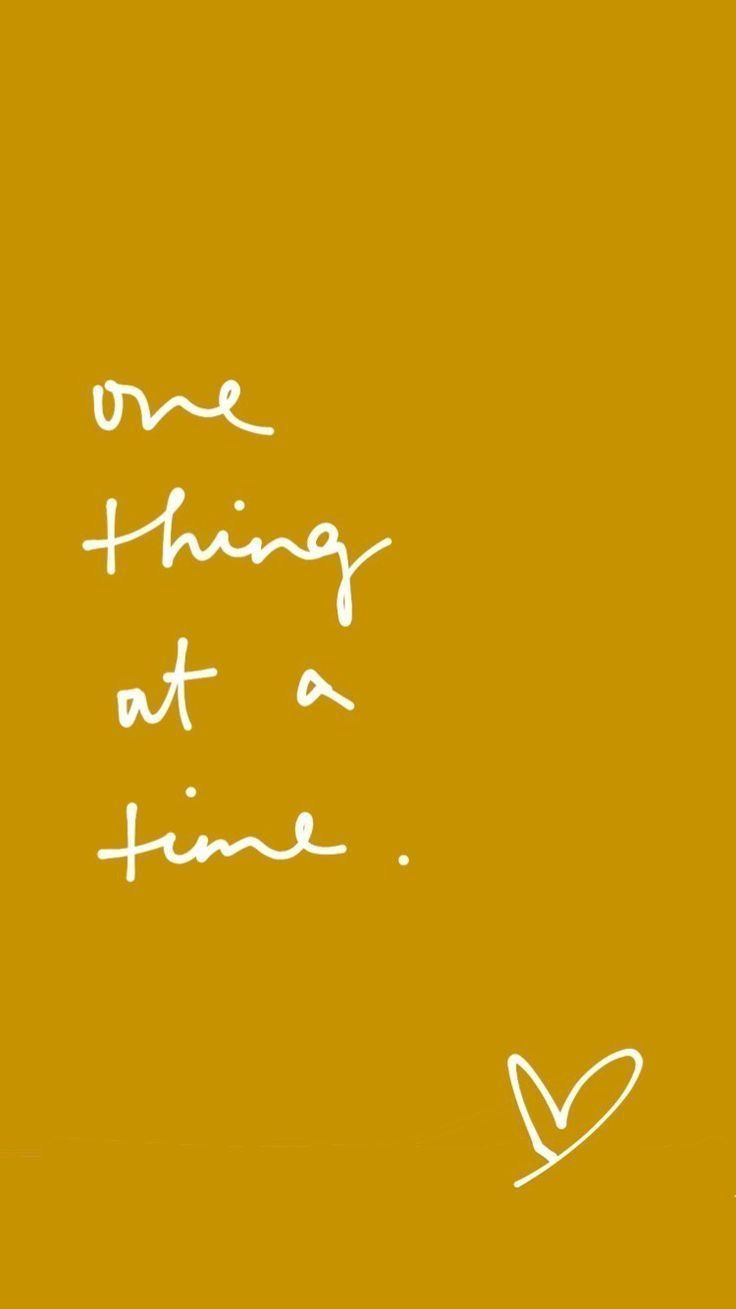 Focus On One Thing At A Time Inspirationalquotes