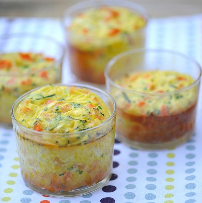 Découvrez la recette Verrines de flan aux petits légumes sur cuisineactuelle.fr.