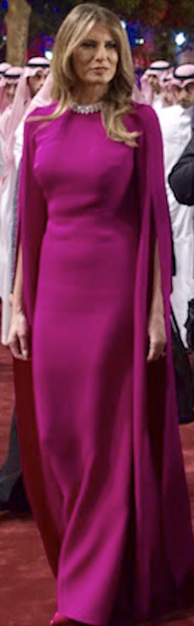 First Lady Melania Trump in Reem Arca