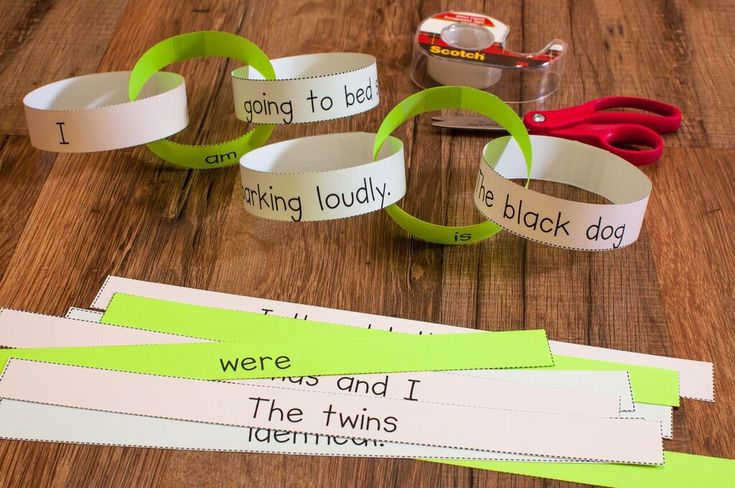 Create a linking verb chain to teach about linking verbs!
