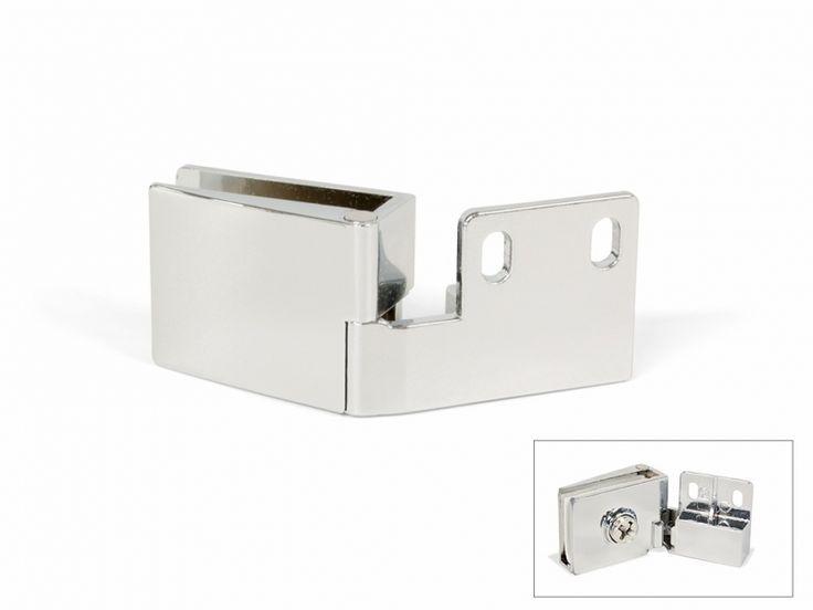 Glass Door Hinges for Inset Doors Top & Bottom Hinge Chrome Max. 5mm Glass