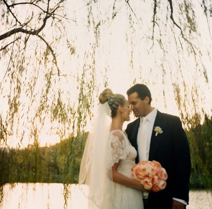 Molly Sims wedding photo by Gia Canali - the couple shares a quiet moment after the ceremony