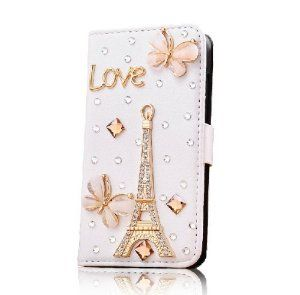 Hot New Crystal Girl Women Apple Iphone5 Case 5s 5g Case Iphone 5 Case Butterfly Effiel Tower Love Letter Case Price: $10.6