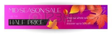 Mid season sale web banner design thanksgiving autumn holiday sales banner vector template.
