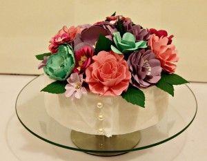 Centrotavola totalmente realizzato con fiori in carta  #paper flower