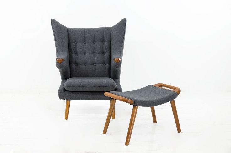 The Teddy Chair in Smoke Grey Felt
