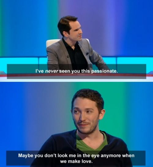 Jimmy Carr and Jon Richardson.
