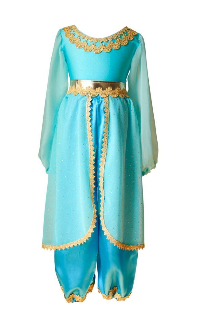 Girl's Classic Blue & Gold Arabian Princess Costume – Bailey and Ava