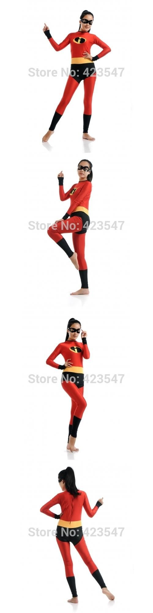 The Incredibles-Mrs Incredible Costume The Incredibles Set Halloween party costumes