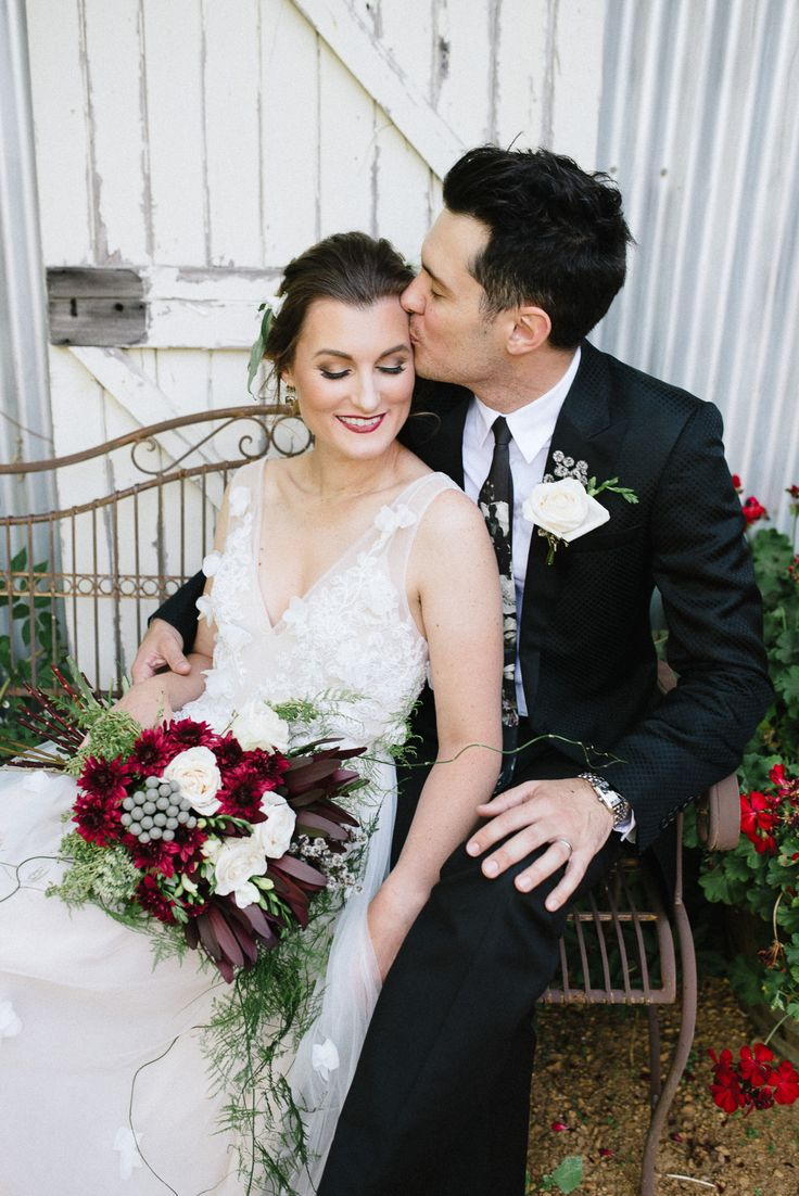 Romantic Outdoor Winery Ideas With Marsala - Polka Dot Bride | Photo by Amanda Afton http://amandaaftonphotography.com/