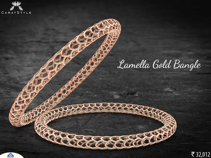 A Truly Rose Gold #Bangle!  #exquisite #woman #trends #shopping #india #love