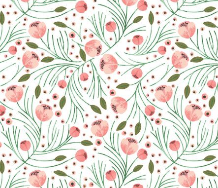 Changing Pad Cover Winter Floral Blush  Floral Changing by ModFox