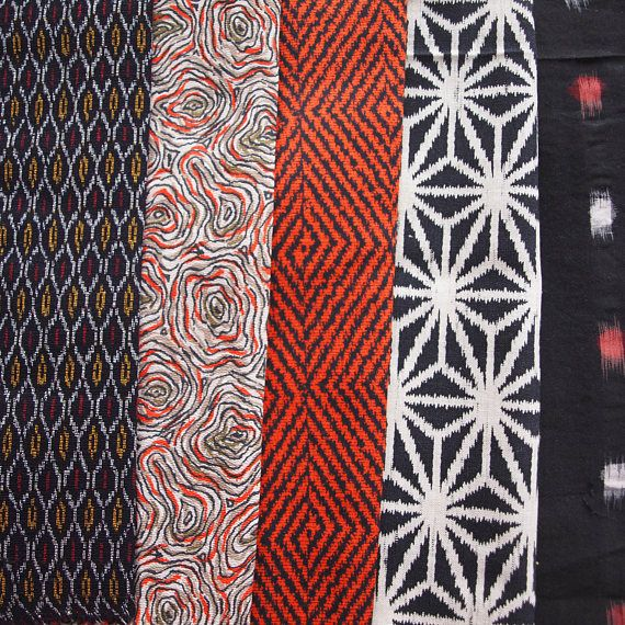 20 pieces Japanese Fabric Bundle of Kimono Scrap Remnants