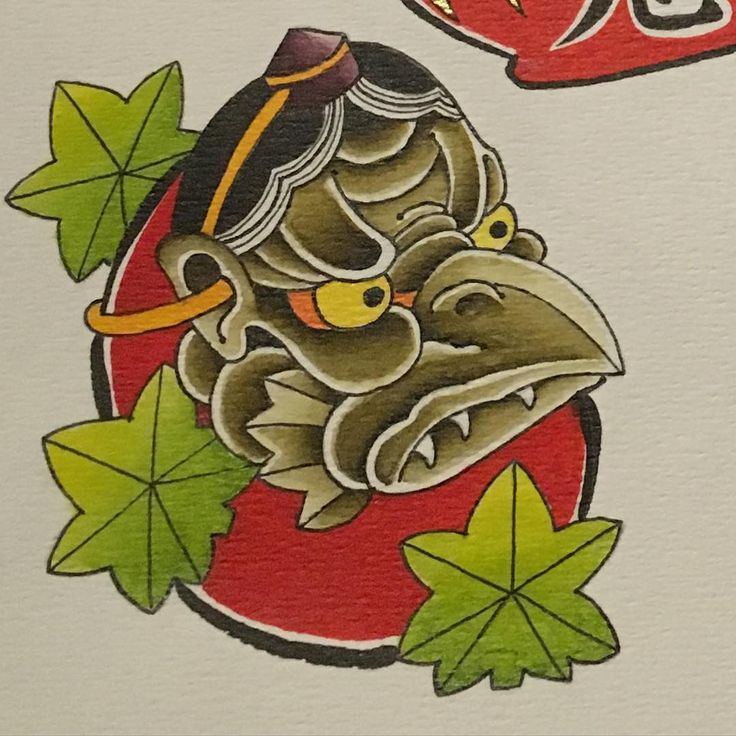 Little tengumask-daruma I painted. The Tengu live in the mountains and forrests of Japan. Tengu come in 2 forms, either crow like or human. It is said they have great fighting skills and legend tells they trained one of Japans most famous swordfighters, Minamoto-no-Yoshitsune #daruma #spirit_of_daruma #woodenanchortattoo #japan #katana #bodhidharma #tengu #painting