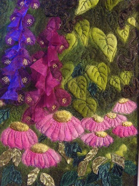 Embroidered Felt Picture by MarmaladeRose, via Flickr