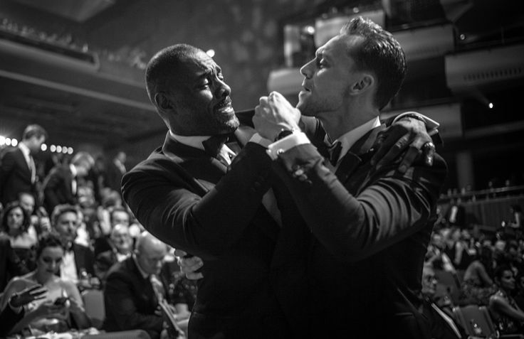 Double agents? Elba and Hiddleston bond at the Baftas