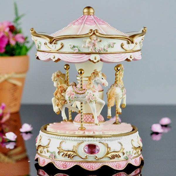Carousel Music Box | Pink Carousel Music Box