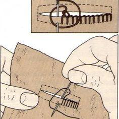Costura a mano, Punto de ojal                                                                                                                                                                                 Más