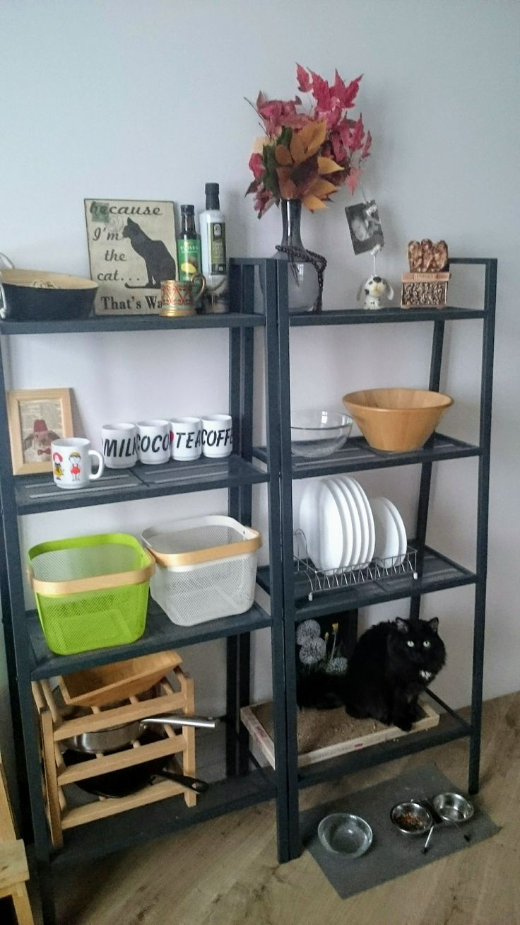 Стеллаж Лерберг ИКЕА на кухне (Small kitchen Lerberg