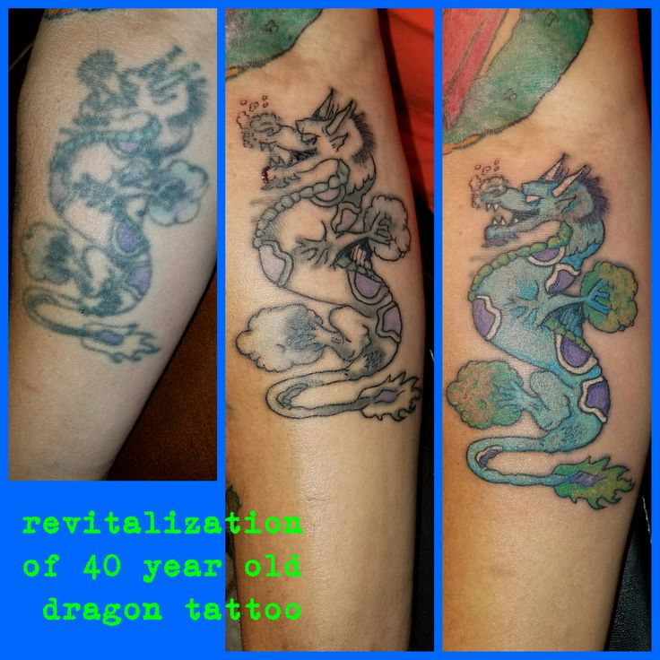 40 Forearm Quote Tattoos For Men: Revitalization Of A 40 Year Old Dragon Tattoo, Retouch