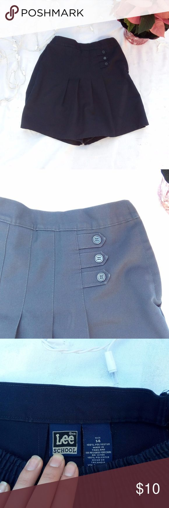 Lee School Uniform Skirt navy Blue Navy Blue School Uniform Skirt Built in shorts Lee Like New Condition Girls size 14 Lee Bottoms Skirts