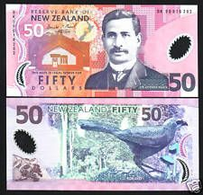 NEW ZEALAND 50 DOLLARS P188 1999 *BK* PFX KOKAKO POLYMER UNC CURRENCY MONEY NOTE