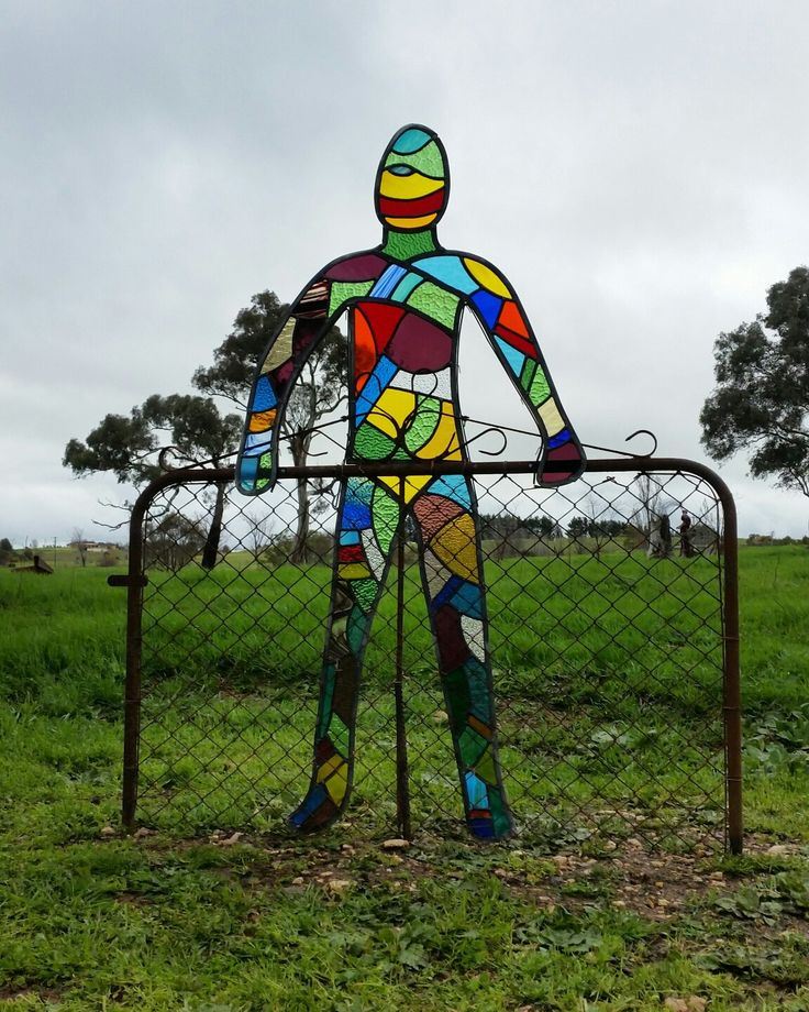 People are like stained glass windows. ........ Sculpture in the Paddock. Yass. 2016.